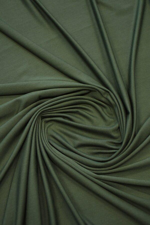 Трикотаж темно-зеленый 2