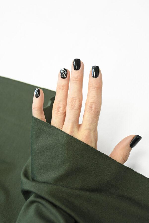 Трикотаж темно-зеленый 1