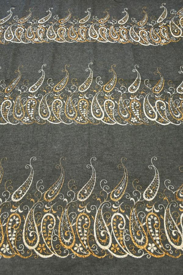 Джинс серый с вышивкой люрексом 6