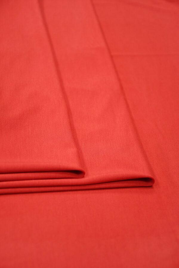 Трикотаж кораллово-красный 4