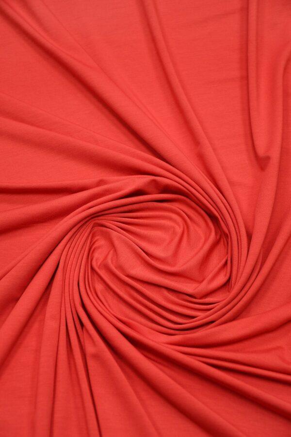Трикотаж кораллово-красный 3