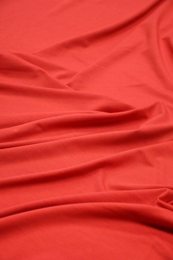 Трикотаж кораллово-красный