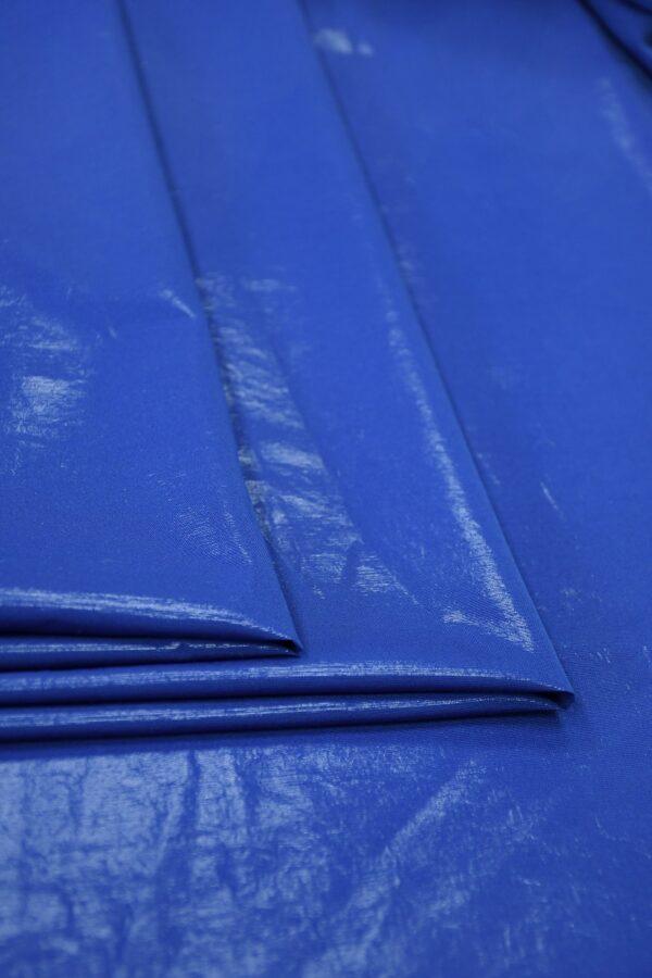 Плательная ткань синяя с эффектом воды 1