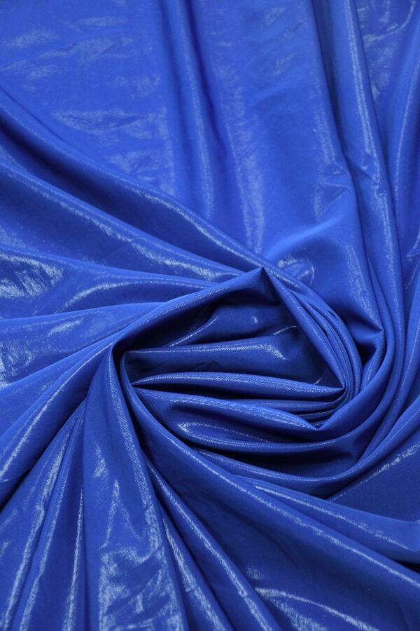 Плательная ткань синяя с эффектом воды 2