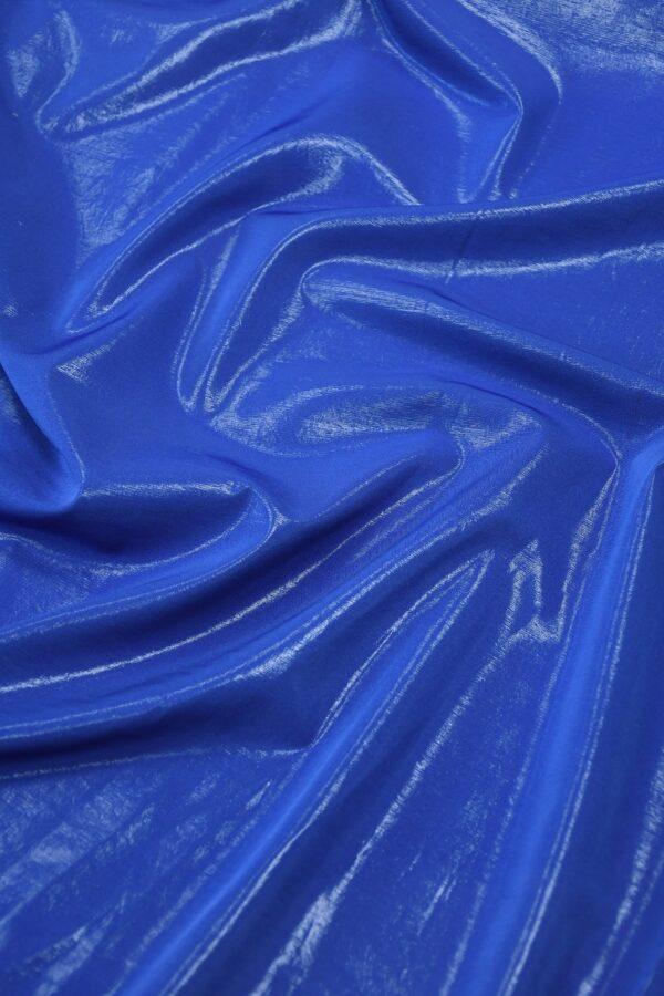 Плательная ткань синяя с эффектом воды