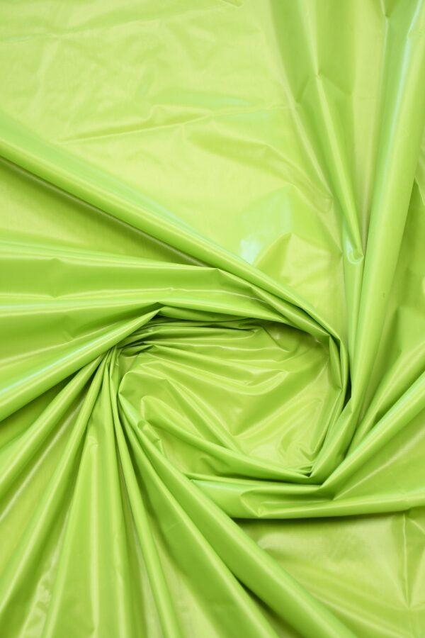 Плащевая ткань салатовая с блеском 2