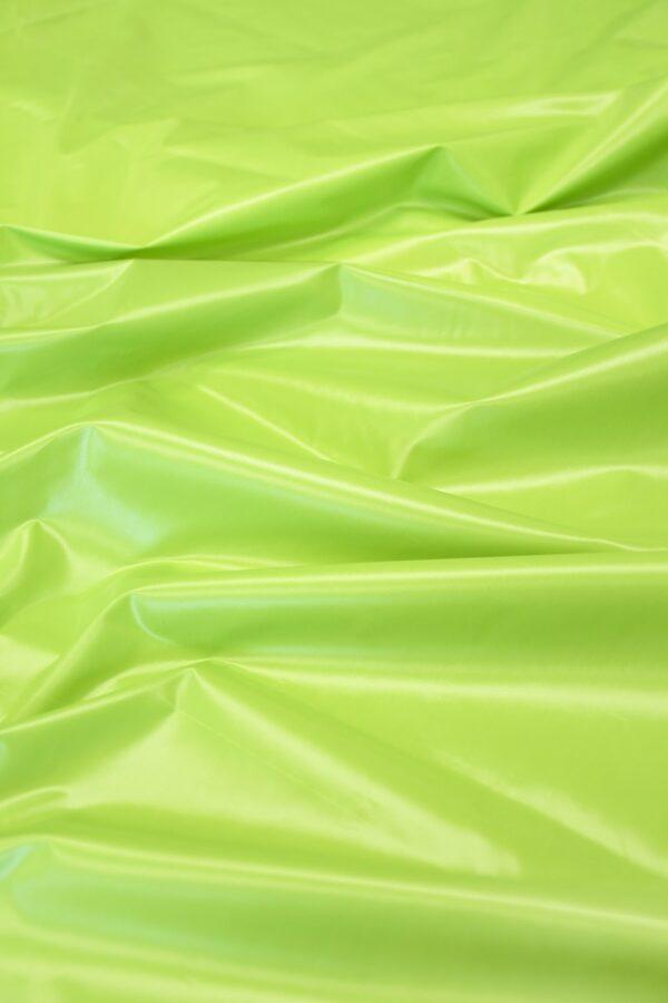 Плащевая ткань салатовая с блеском