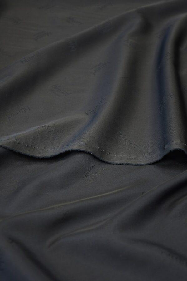 Подклад вискоза темно-синий с надписями 4