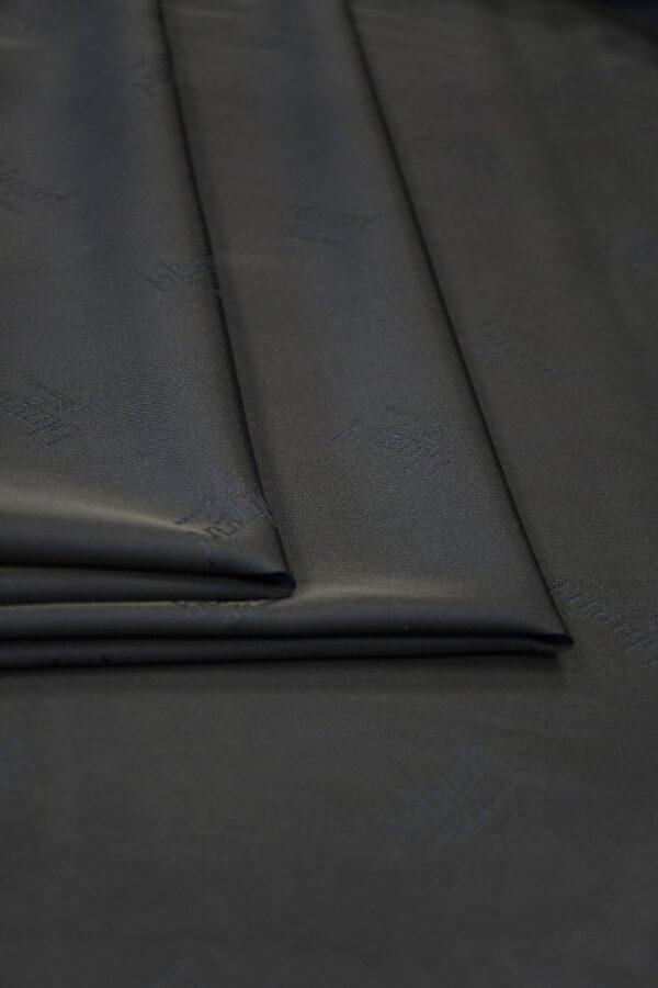 Подклад вискоза темно-синий с надписями 3