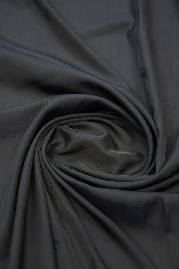 Подклад вискоза темно-синий с надписями 2