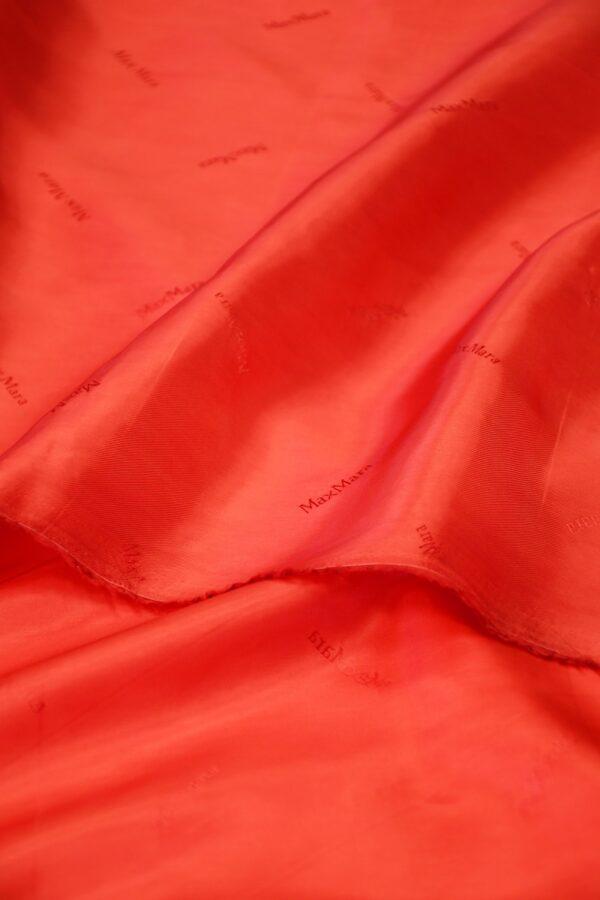 Подклад вискоза красный с надписями 4