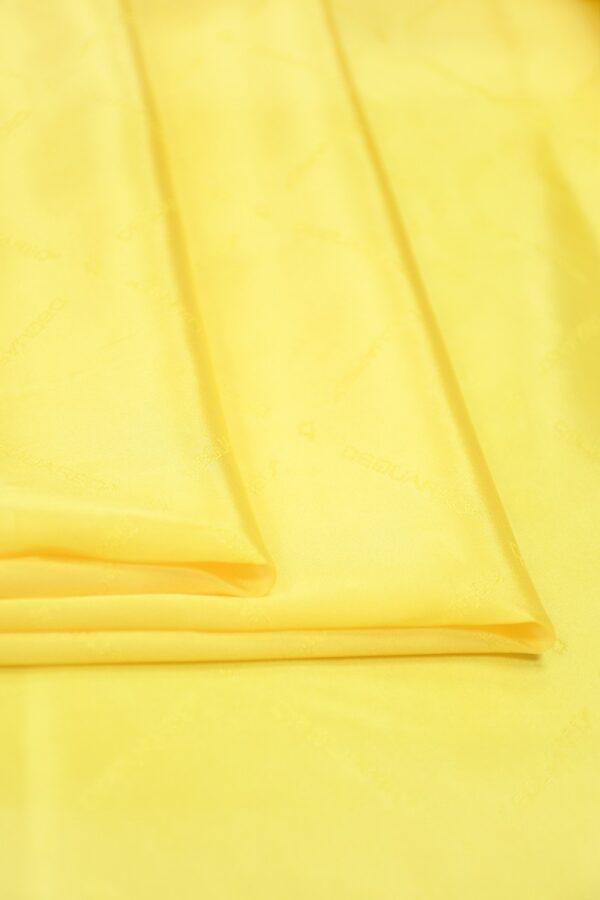 Подклад вискоза ярко-желтый с надписями 2