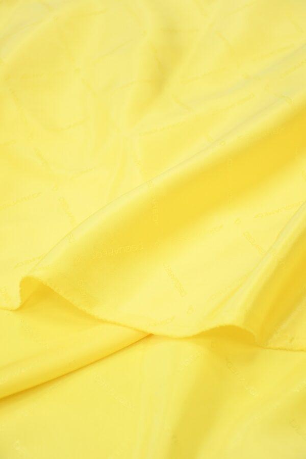 Подклад вискоза ярко-желтый с надписями 3