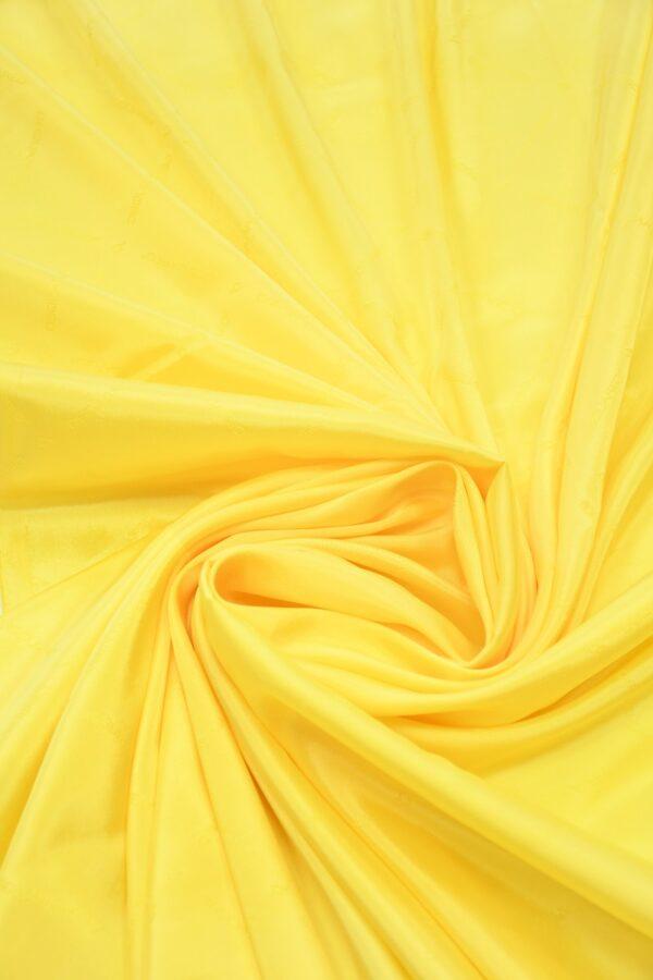 Подклад вискоза ярко-желтый с надписями 1