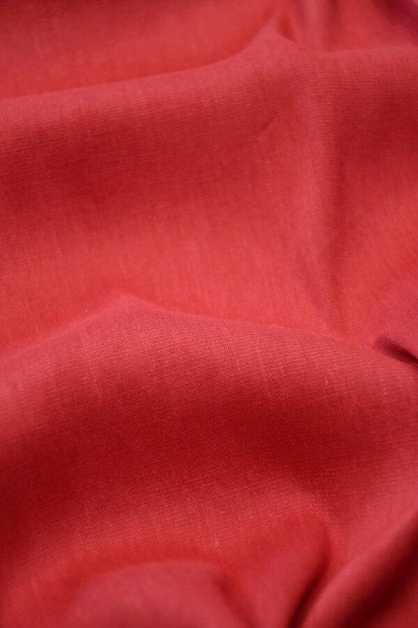 Лен стрейч красный 5