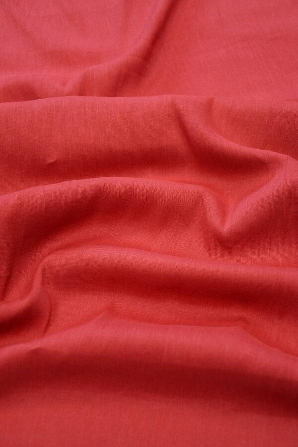 Лен стрейч красный