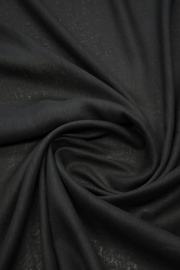 Лен черный плотный 2