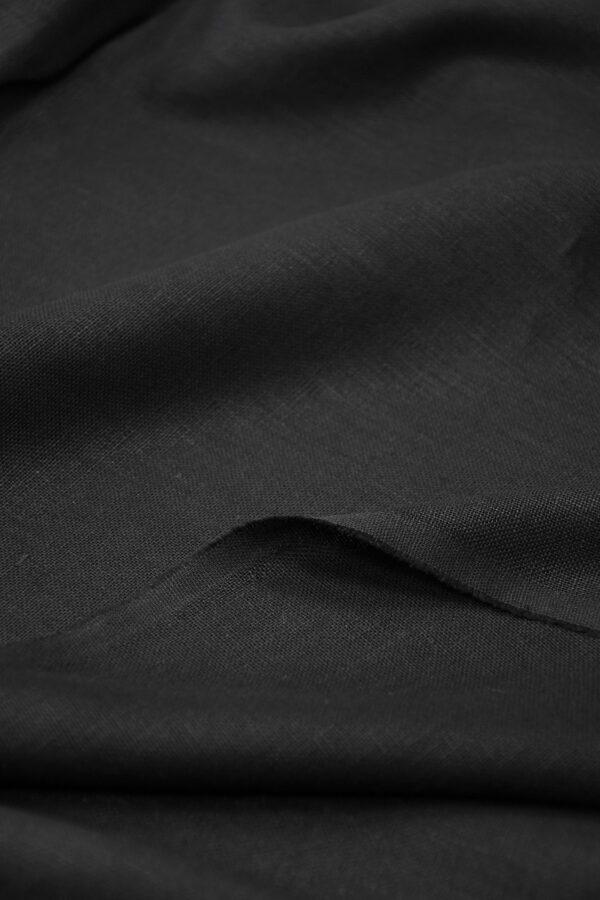 Лен черный плотный 4