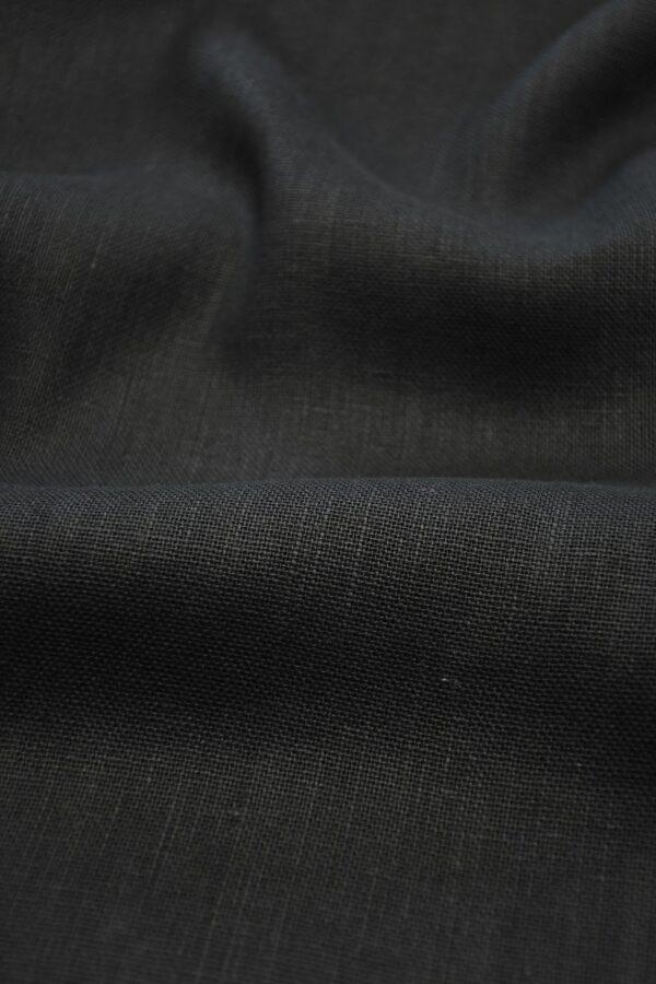 Лен черный плотный 5