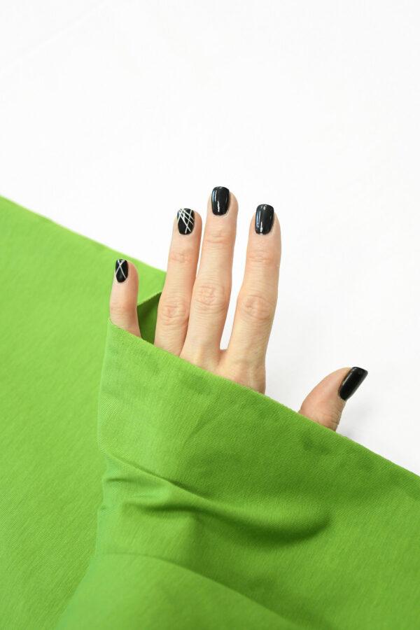 Трикотаж ярко-зеленый 1