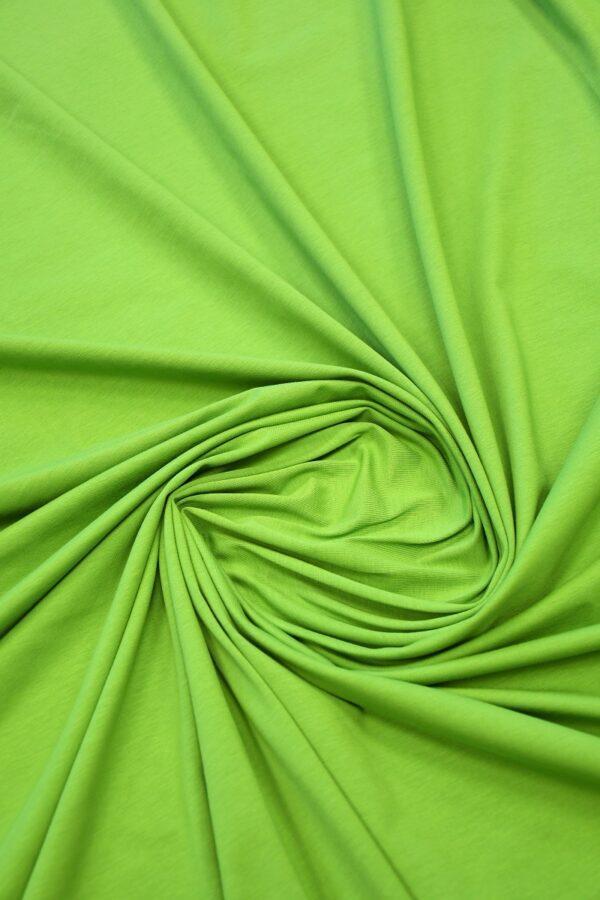 Трикотаж ярко-зеленый 2
