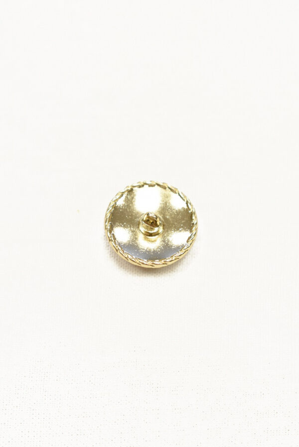 Пуговица металл золото красная эмаль 20мм  (p1076) к22 - Фото 8