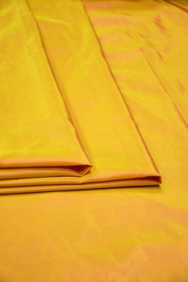 Тафта шелк хамелеон оранжевая с желтым 2
