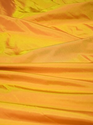 Тафта шелк хамелеон оранжевая с желтым