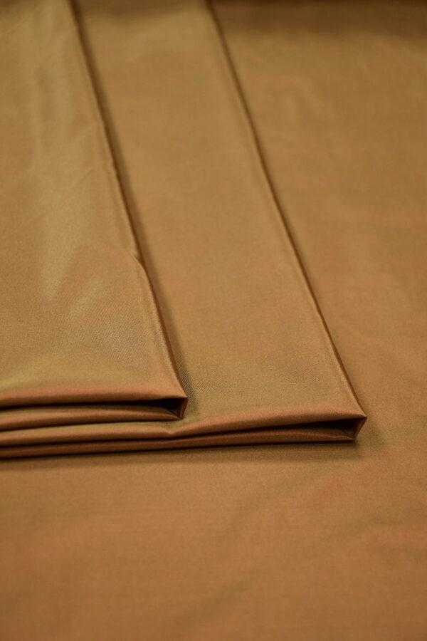 Тафта шелк хамелеон коричневая 2