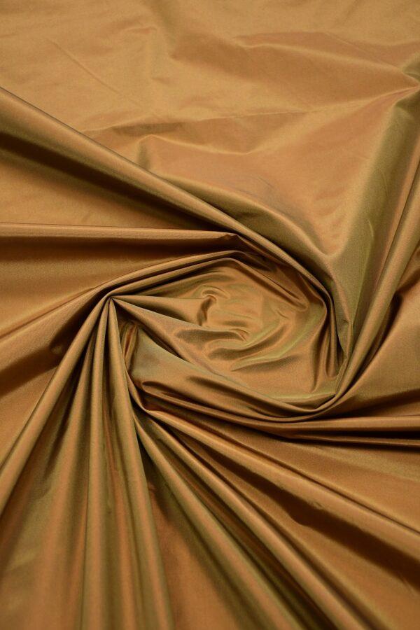 Тафта шелк хамелеон коричневая 4