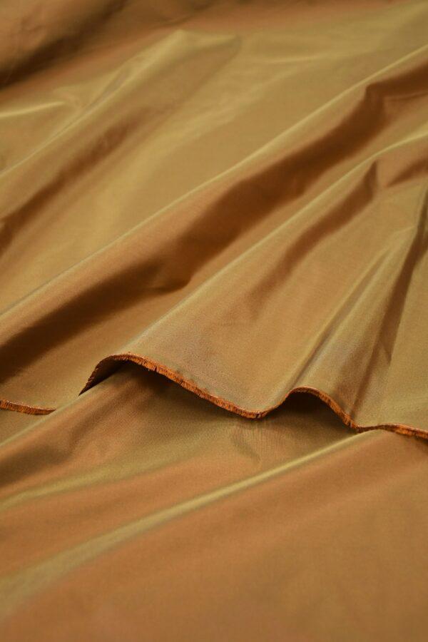 Тафта шелк хамелеон коричневая 3