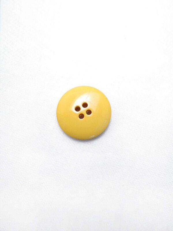 Пуговица пластик на прокол костюмная желтая желтая 21мм (p0610) к3 - Фото 7