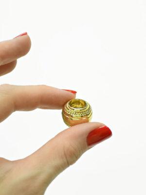 Наконечники пластиковые большие золотые 1