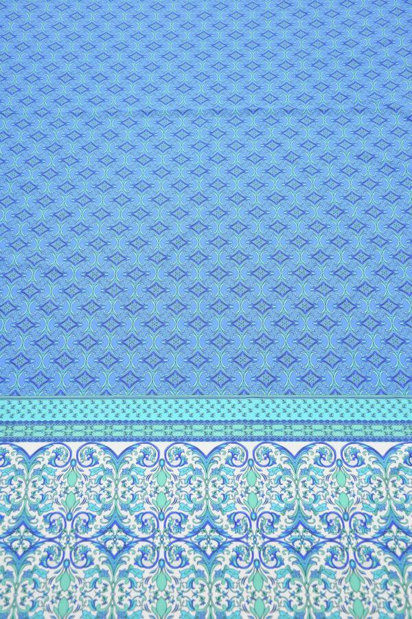 Бифлекс голубой с мелким орнаментом и каймой 5