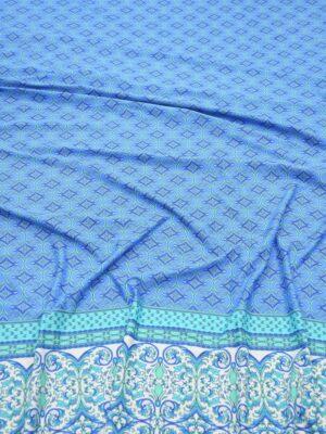 Бифлекс голубой с мелким орнаментом и каймой