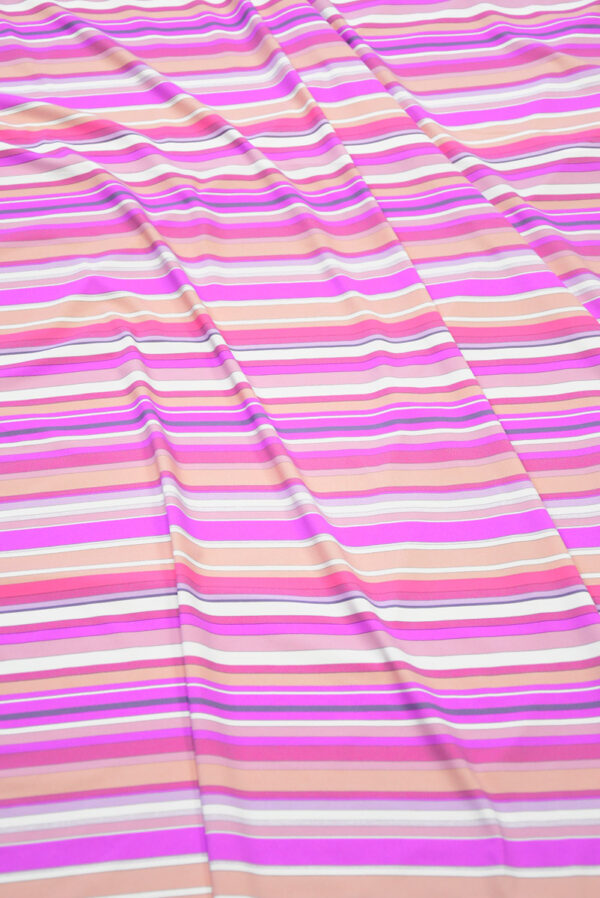 Бифлекс в белую и розовую полоску