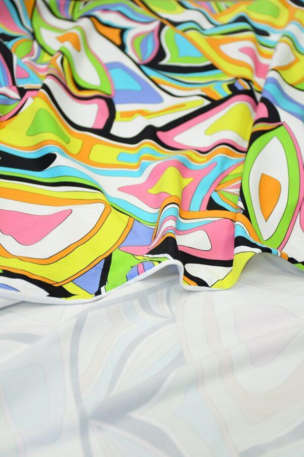 Бифлекс с разноцветным узором абстрактным узором 4