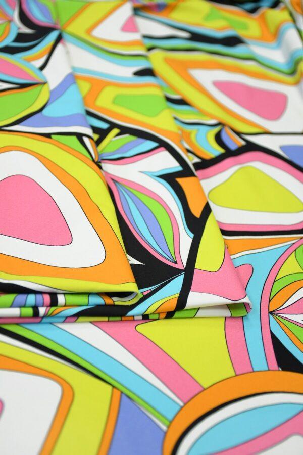 Бифлекс с разноцветным узором абстрактным узором 3