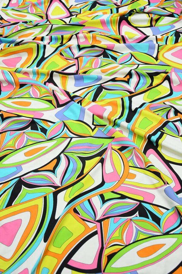 Бифлекс с разноцветным узором абстрактным узором