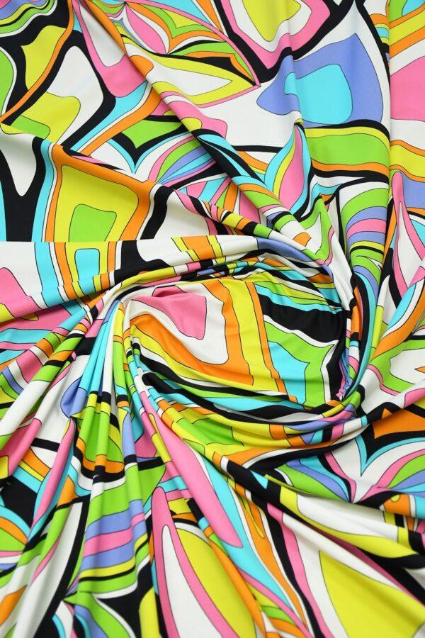 Бифлекс с разноцветным узором абстрактным узором 2
