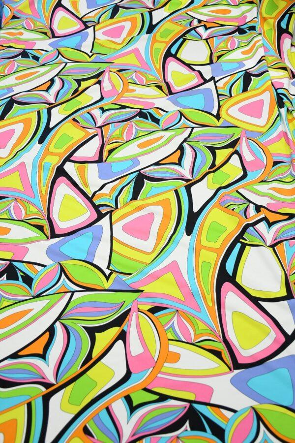 Бифлекс с разноцветным узором абстрактным узором 5