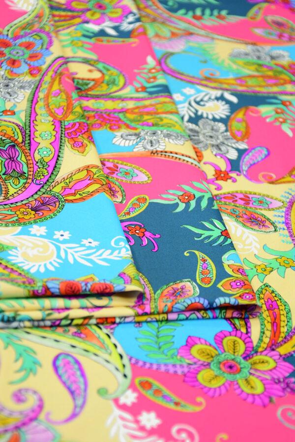 Бифлекс с разноцветным пейсли 4