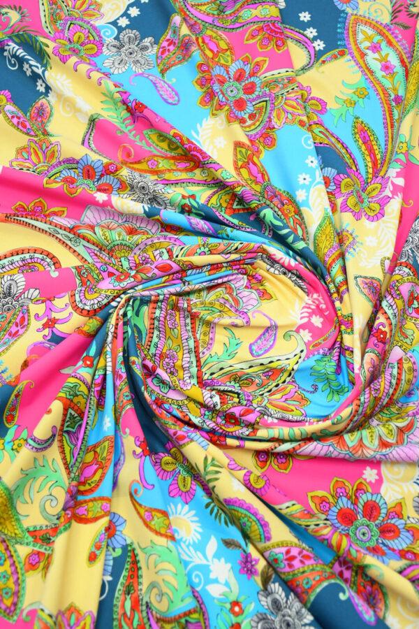 Бифлекс с разноцветным пейсли 2