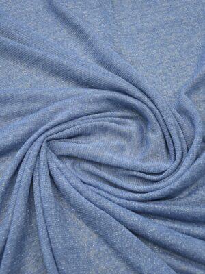 Трикотаж голубой с люрексом 1