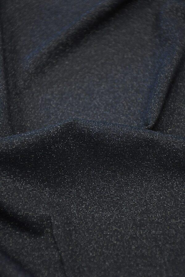 Трикотаж темно-синий с люрексом 4