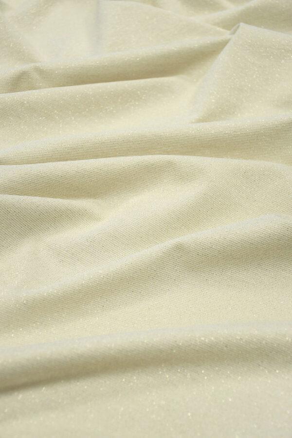 Трикотаж светло-бежевый с золотым люрексом (10473) - Фото 6