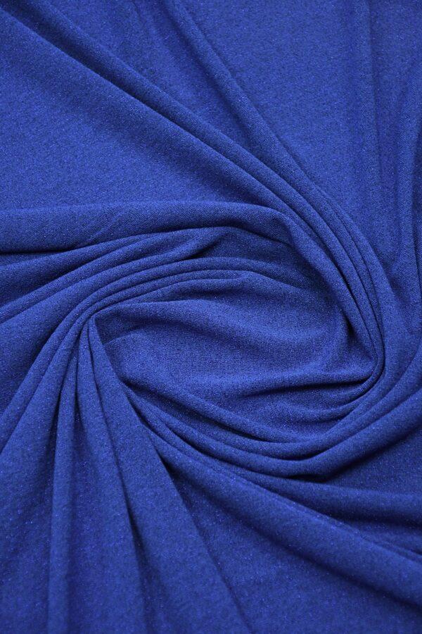 Трикотаж синий с люрексом 2
