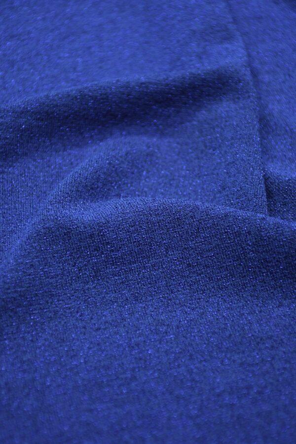 Трикотаж синий с люрексом 4