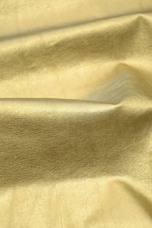 Экокожа золотистая 5