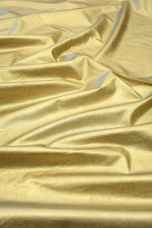 Экокожа золотистая